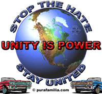 STOP the hate, stay united.  UNITY IS POWER!